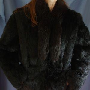 Black Rabbit Fur Jacket